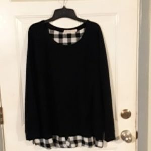 Faded Glory black Sweater w/tails XL